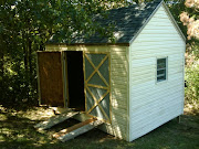 This shed was built entirely of recycled materials !