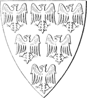 Coat of Arms of Piers Gaveston, Earl of Cornwall.