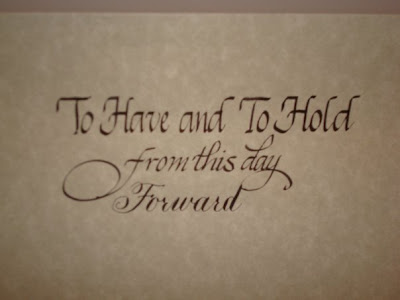 wedding calligraphy kellyann