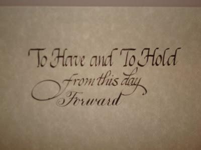 wedding calligraphy kellyann
