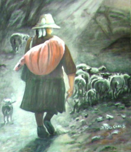 pastora   (óleo)