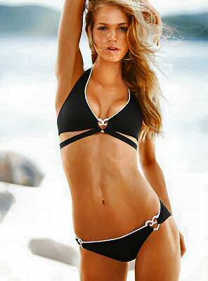 Black halter neck bikini