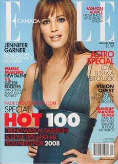 jennifer garner in elle magazine