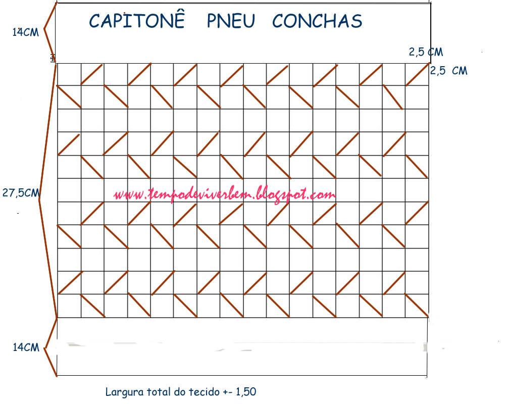 ALMOFADA PNEU CAPITON   CONCHAS
