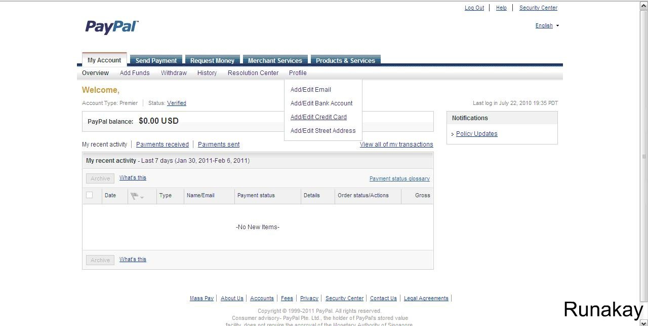 how to send money through paypal with credit card