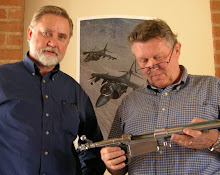 GMA founder Mike Roden, left, and Jon Speed, author of Mauser Original Oberndorf Sporting Rifles.