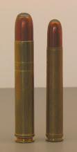 Both the .550 Magnum and the 458 Lott use straight-walled belted cases.