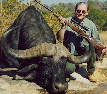 Alice Poluchova, president of CZ-USA, with the buffalo she took with a CZ in .458 Lott.