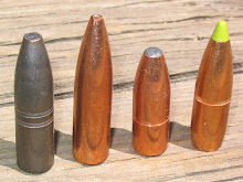 "Selection of .366"" bullets for the 9.3x62. All have deadly reputations among African hunters."