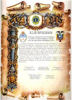 Acta Hermanamiento con Ecuador
