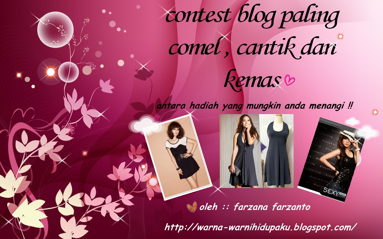 Contest Blog Paling Cantik Comel dan Kemas :)