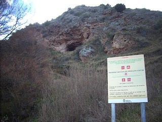 Entrada de la Cueva de la mora (Fitero)