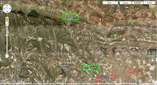Imagen por satélite entre Armañanzas y Espronceda