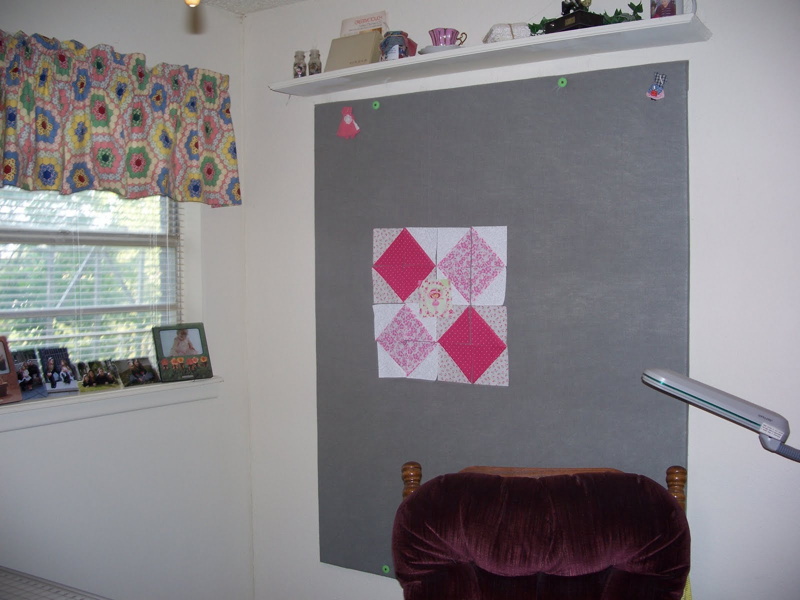 Becky\'s Country Quilting: Design wall in sewing room