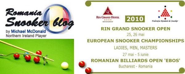 European Snooker Championships 2010 - Bucharest, Romania