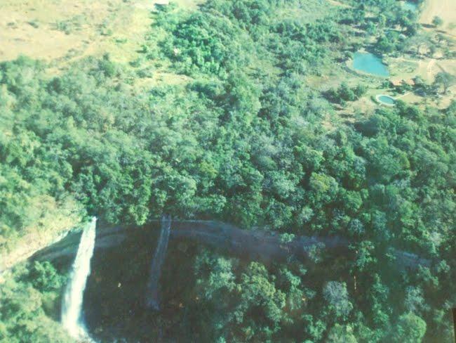 Vista aérea do Vale do Rio Preto