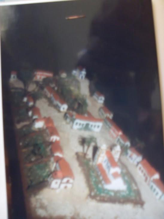 """maquete que eu fiz, em 1990, sobre """"VILA QUELUZ de 1790"""""""