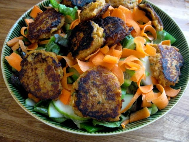 Hope For Healing: Chickpea Patties Salad with Lemon Tahini Dressing