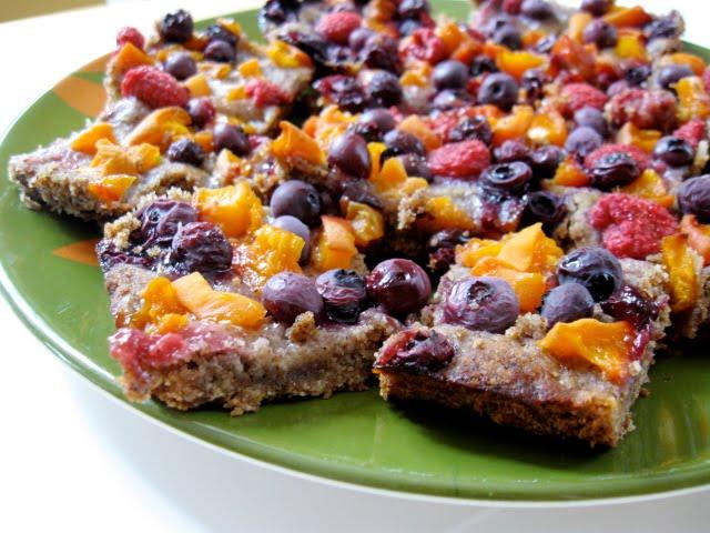 Hope For Healing Fresh Fruit Almond Cookie Bars Vegan