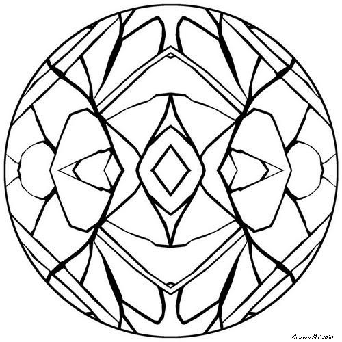 Acodero graphisme mandala 2 - Vitraux a colorier ...