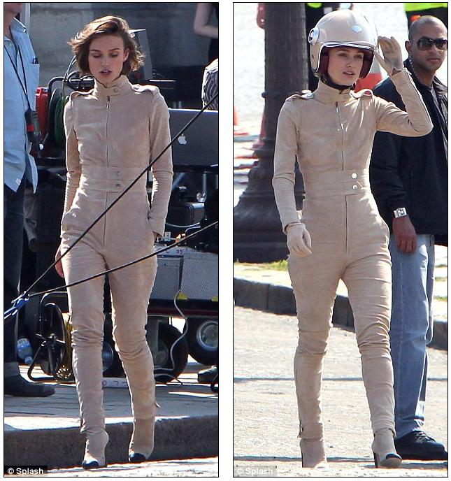 sneak peek reveals pirates caribbean actress eye-catching beige catsuit