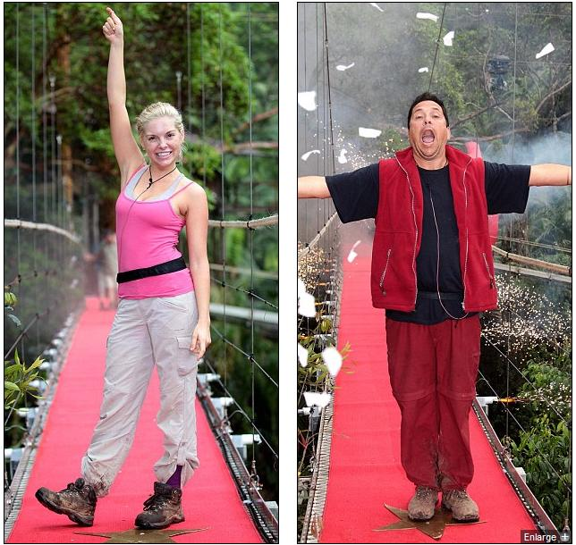 Eliminated: Kayla Collins and Dom Joly were given the chop in I'm A