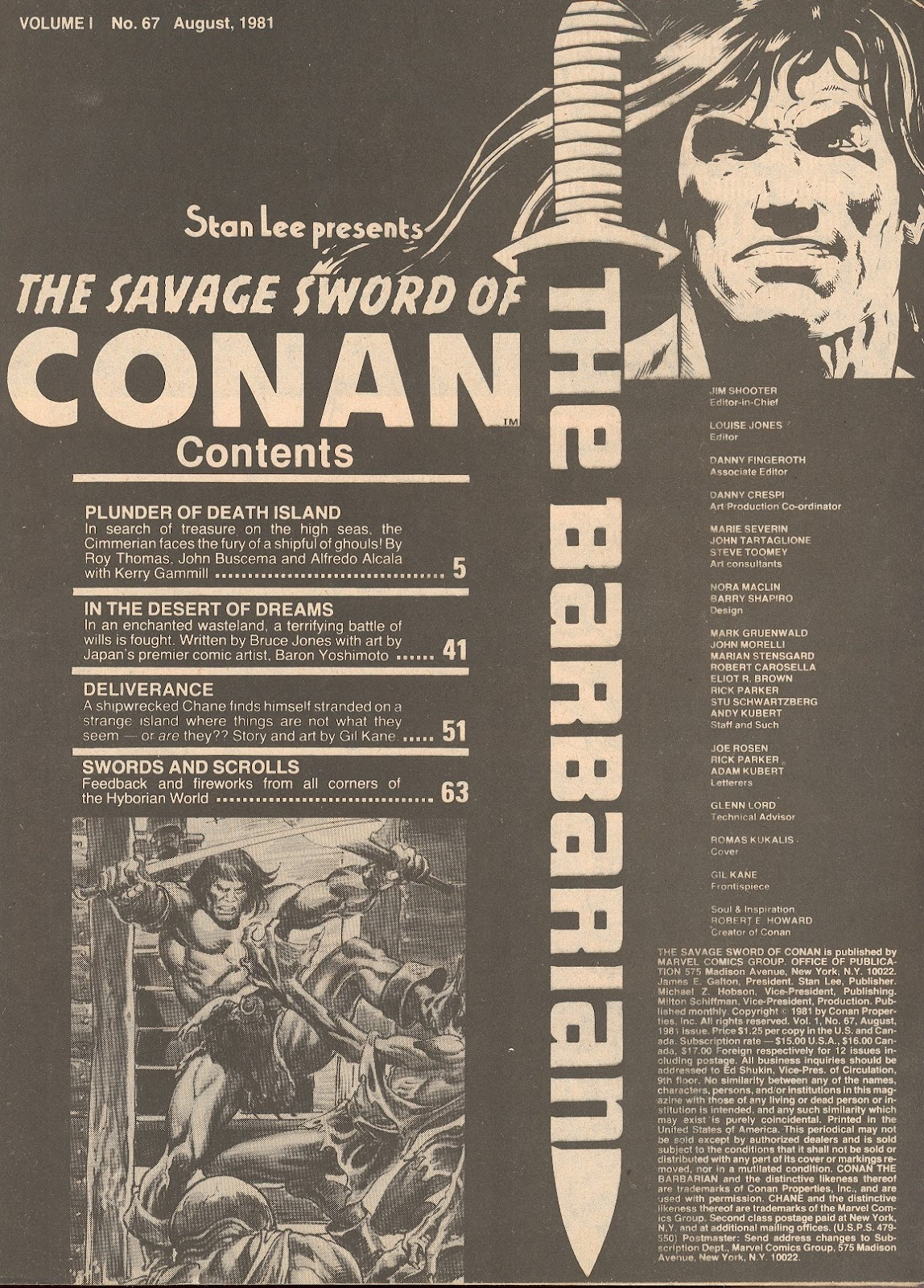 The Savage Sword Of Conan Issue #67 #68 - English 3