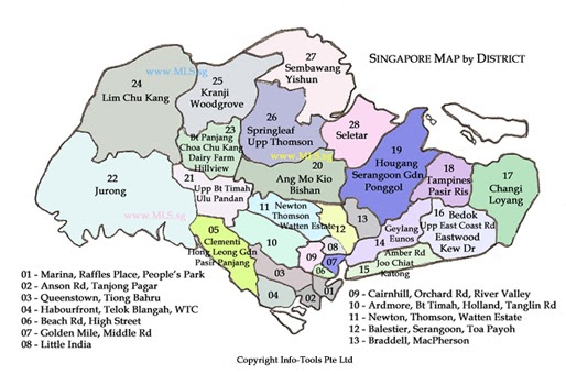 Property Highlights Of Singapore District Map: Singapore District Map At Infoasik.co