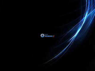 Black Windos 7 wallpaper