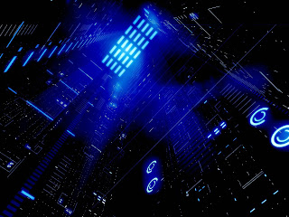 Blue Darkness Architecture