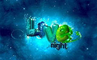 3D Love Night wallpaper