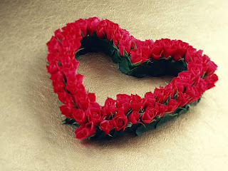 Heart From Flowers wallpaper