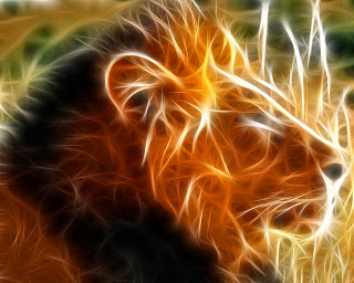 3D Lion wallpaper