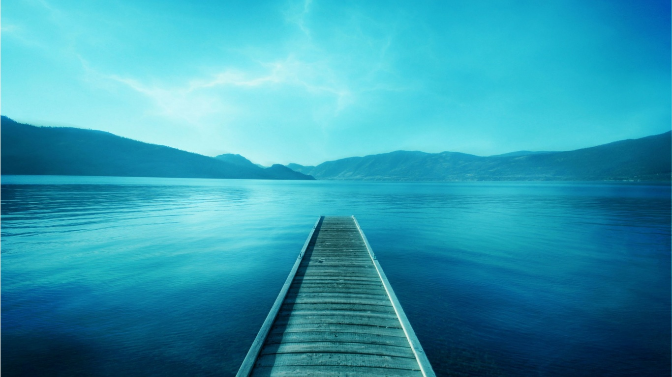 Fresh Blue Nature Wallpaper