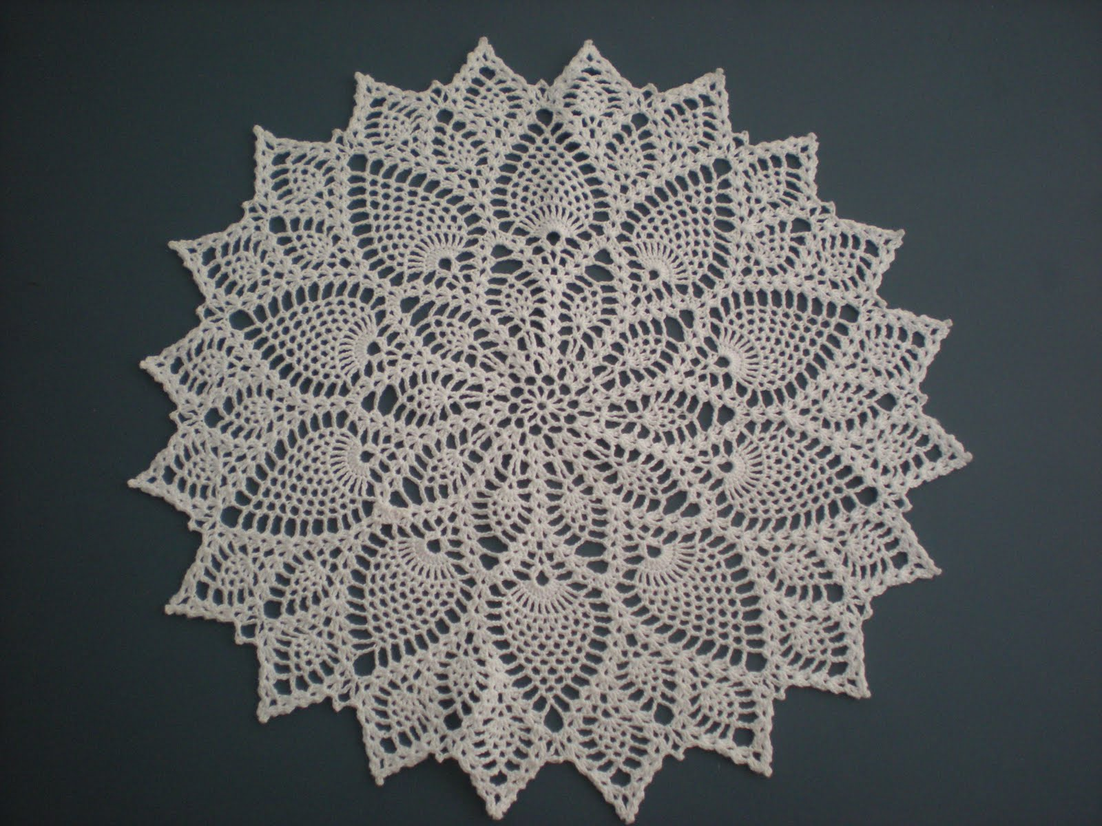 The doily I made from a really good picture!