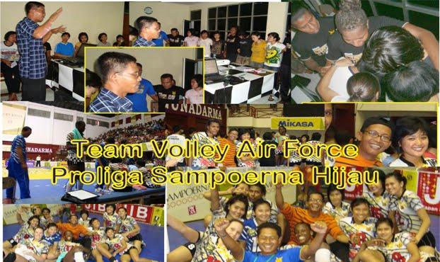 Pendampingan Team Volley Putri TNI AU ke Proliga Sampoerna Hijau 2010