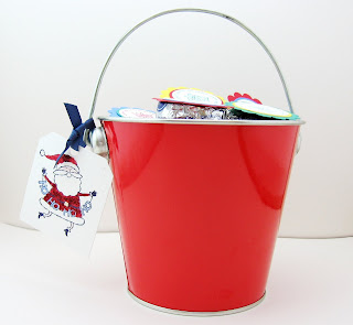 A time to stamp december 2007 for Christmas tin pails
