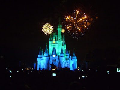 Magic Kingdom with fireworks