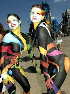 Body painting - Colored Stripes