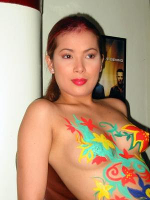 Model Indo on Photo Of Body Painting On A Semi Nude Model In Indonesia