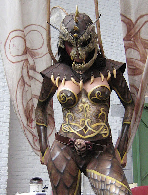 warrior series body painting