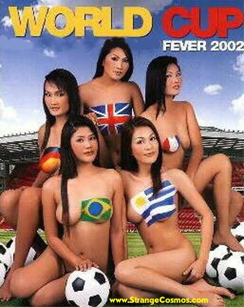 Body Painting Flag Of World Cup Fever 2002
