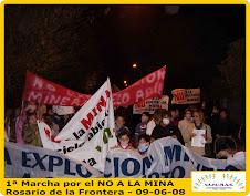 Multitudinaria marcha por el NO A LA MINA en Rosario de la Frontera