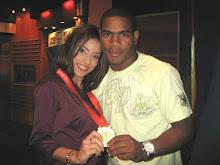 Junto al campeon Olimpico de Boxeo 2008