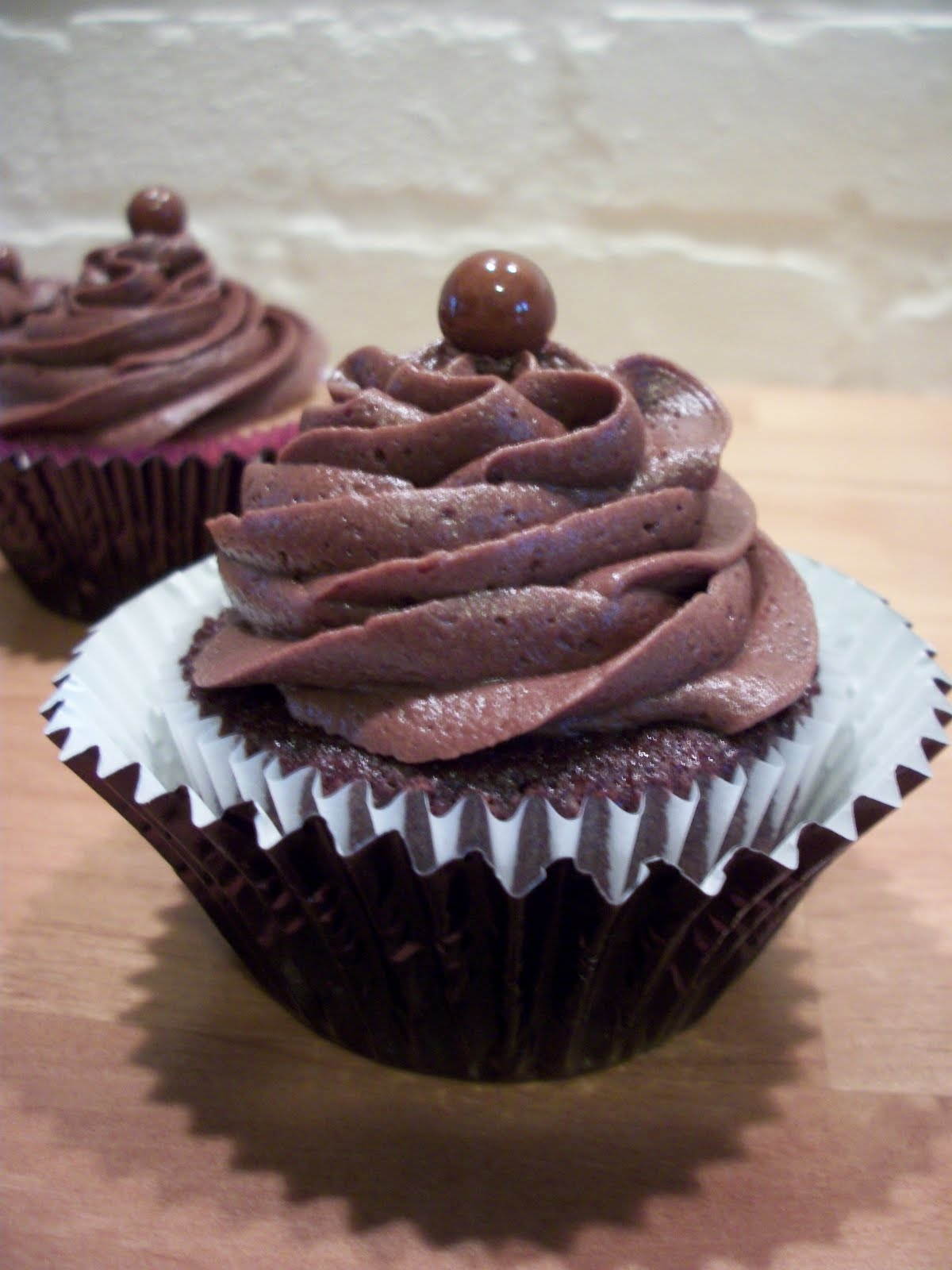 Bean Cupcake~: ~Chocolate Cupcakes with Dark Chocolate Butter Cream ...