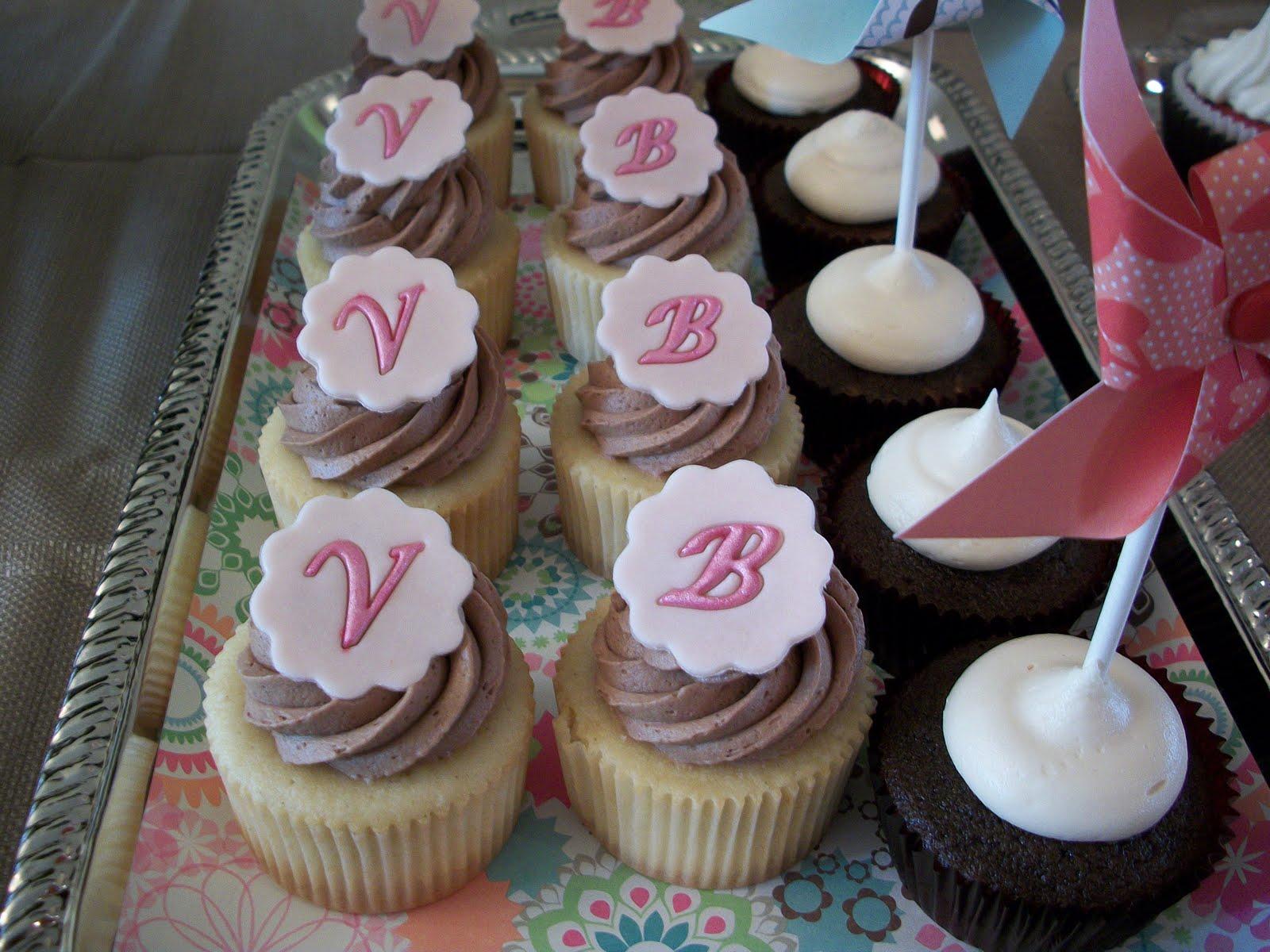 Vanilla Letter Cupcakes Recipe — Dishmaps