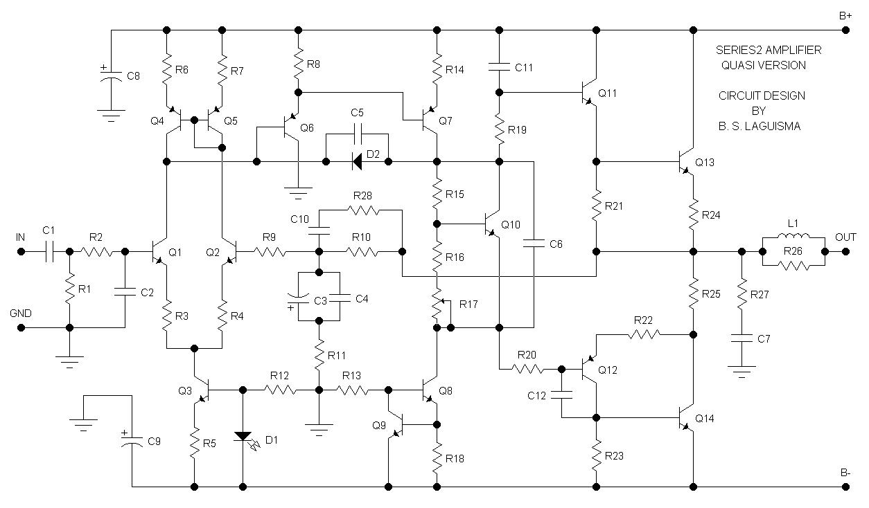Le Amplifiers 2n3055 50watts Audio Amplifier Circuit Schematic Posted By Amp