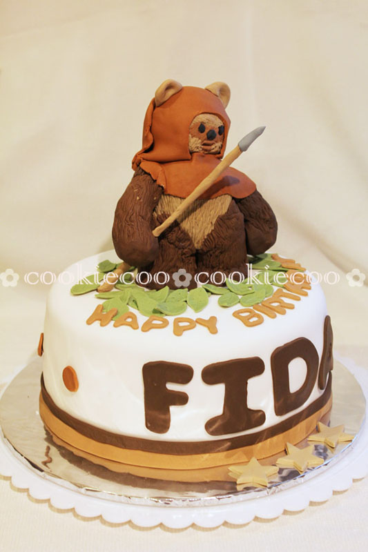 Cake Decorating Baby Ewok
