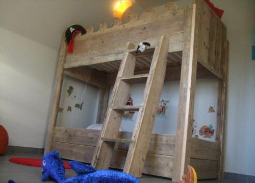 Steigerhouten meubelen steigerhouten slaapkamer - Slaapkamer jaar oud ...