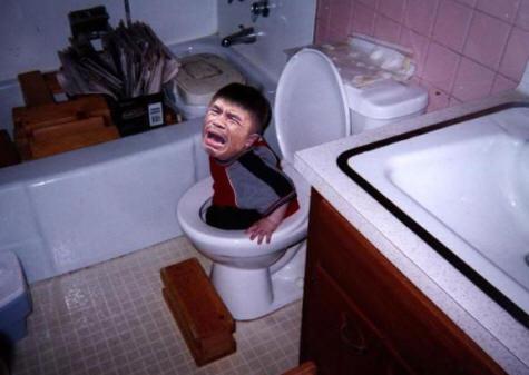 Manny Pacquio Kid In Toilet
